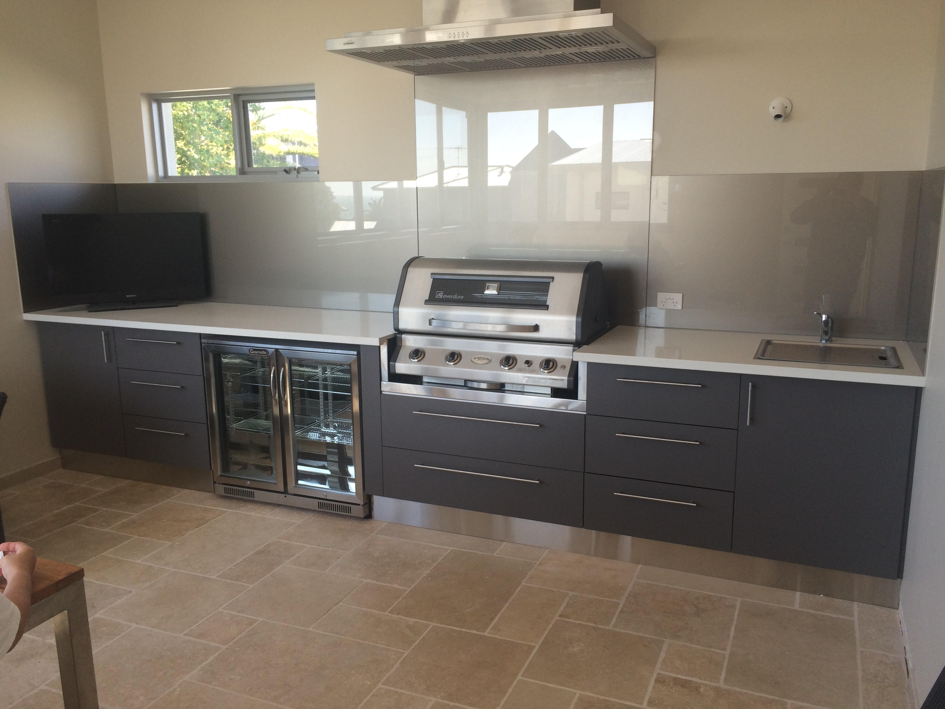 red stone outdoor kitchen granite sinks alfresco kitchens designed for life perth