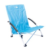 Low Profile Folding Camping Chair 66 x 55.5 x 65cm Blue