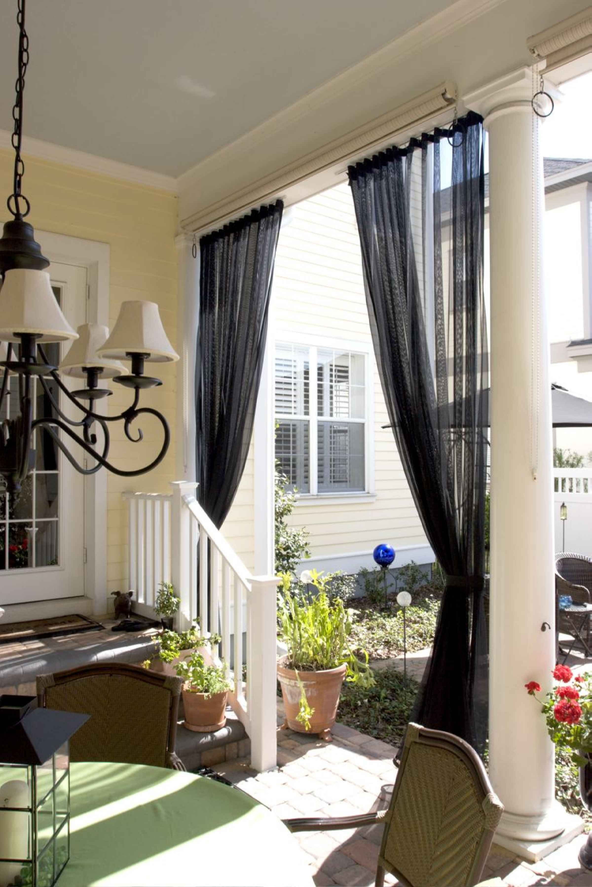 Mosquito netting curtains and noseeum netting curtains