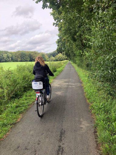 Goed begaanbare fietspaden op de Engelroute