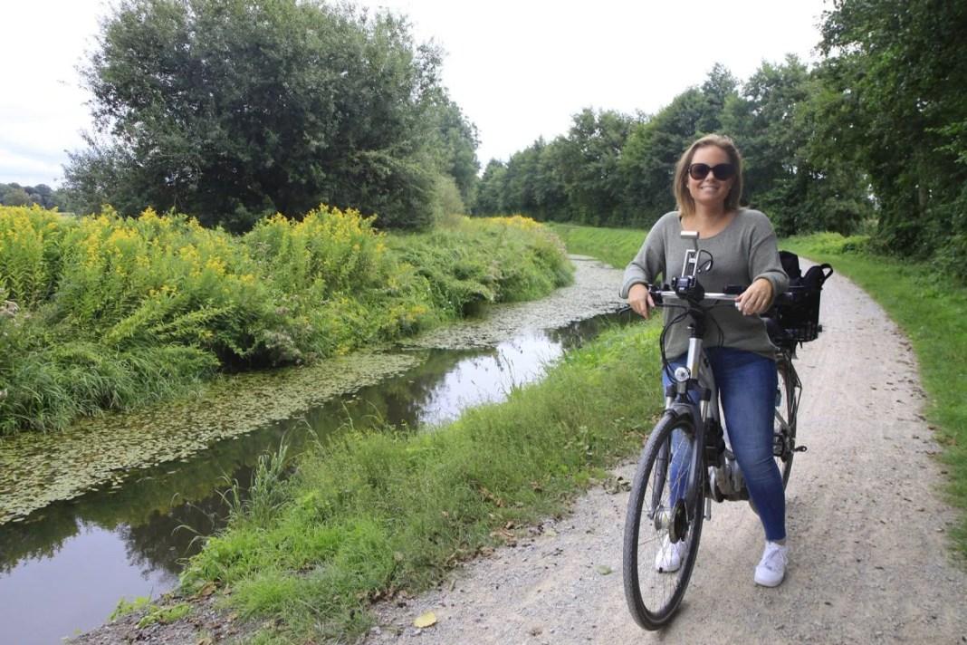Een fietsroute langs de rivier de Ems