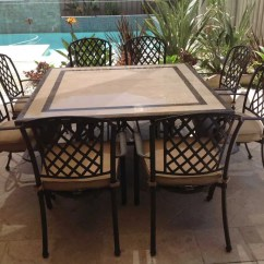 Metal Outdoor Table And Chairs Australia Large For Lounge The Undeniable Elegance Of Cast Aluminum Furniture Dining Stone Milano Pizzaro Pavement