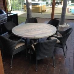 Teak Table And Chairs Garden Pottery Barn Kid Chair Greywash