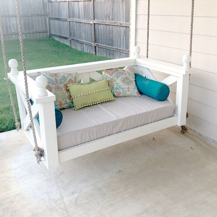 custom outdoor glider porch swing cushions