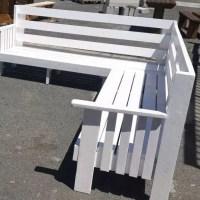 High Quality Outdoor Corner Garden Bench in White in Cape Town