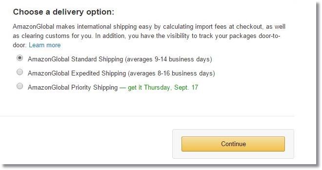 amazon.comアメリカ米国アマゾン購入方法配送方法選択