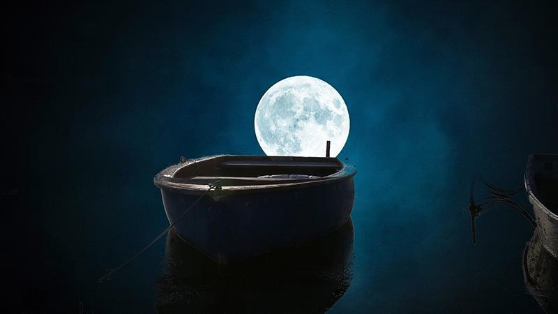 Passing A Fishing Boat At Night
