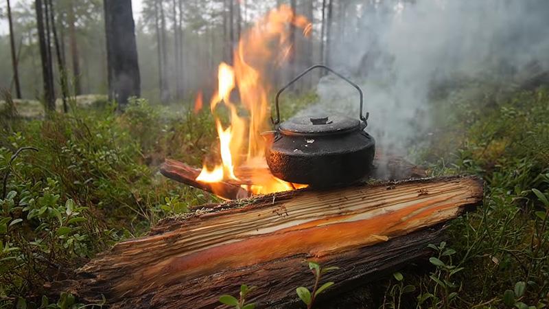 Tarp Over Campfire