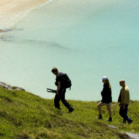 Walking above the bay, Achmelvich