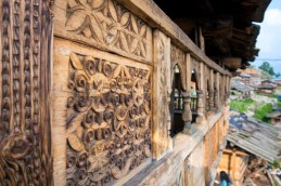 Carvings and engravings on structures is a common thing in Kalap. The more elaborate the engraving, the higher the respect given to the household that resides within. Photo Courtesy Swati Chauhan/ The Outdoor Journal