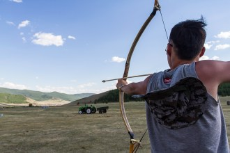 We met a group of students who were practicing their archery skills just outside Ulaanbaatar, Mongolia's capital city.