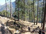 Jumaring up the Tyrolean traverse