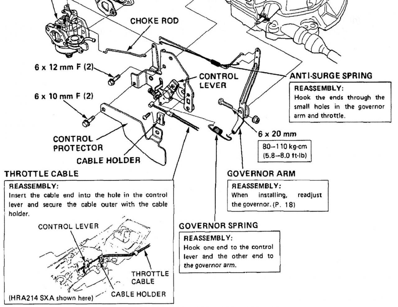 honda lawn mower carburetor linkage diagram picture