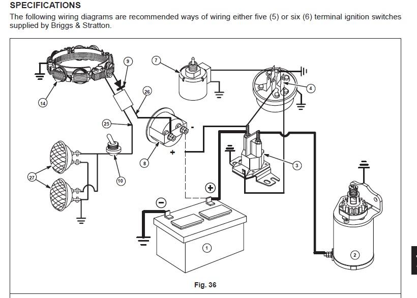 wiring a solenoid on a riding mower