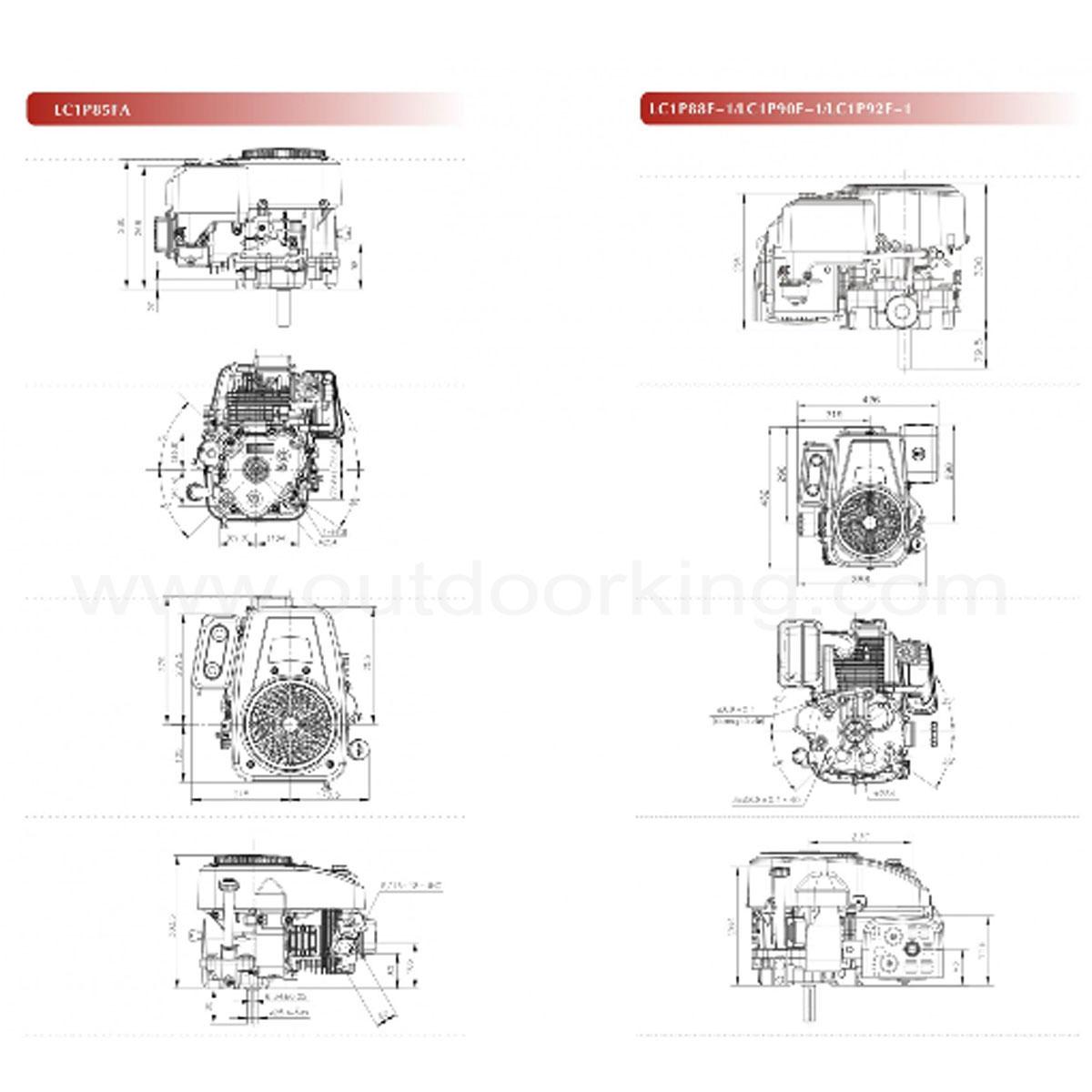 Loncin Genuine Ride On Mower LC1P90F-1 Engine [LC1P90F-1