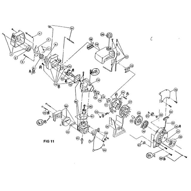 Atom 101,103 & 104 Edger Engine Parts List