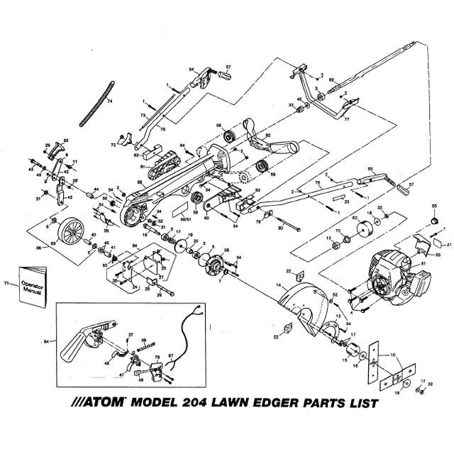 Atom 204-205 Edger Parts List