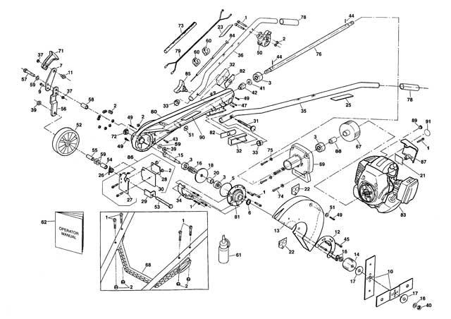 Atom 202-203 Edger Parts List
