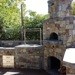 Outdoor Kitchen Oven High End Faucets Custom Wood Fire Pizza Sacramento