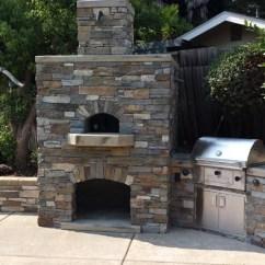 Outdoor Kitchen Oven Single Bowl Sink Top Mount Custom Pizza Design Sacramento Ca