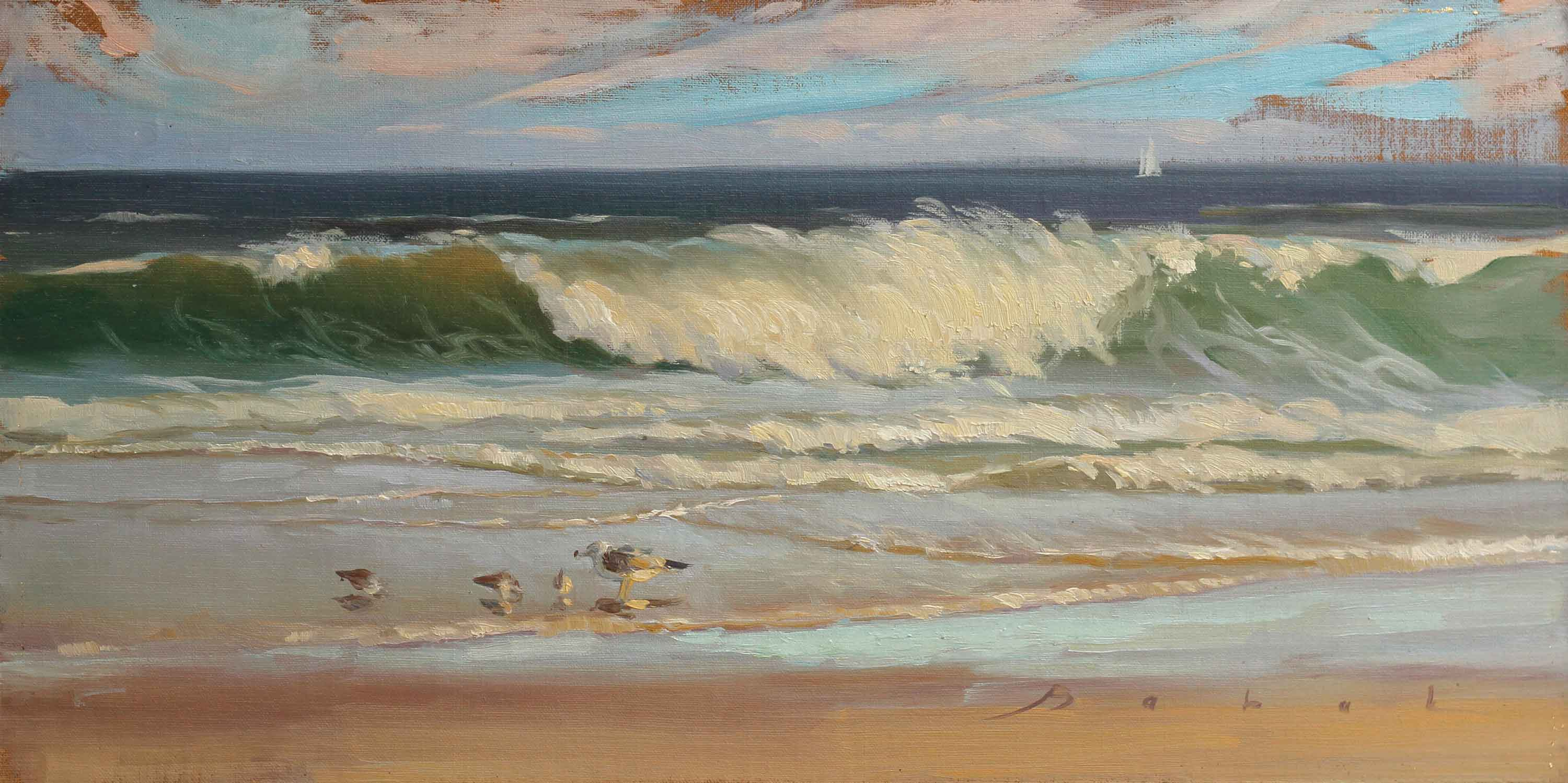 7 seascape paintings to