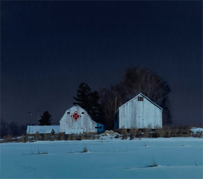 "Ben Bauer, ""Buffalo County Nordic Star,"" oil, 32 x 36 in."