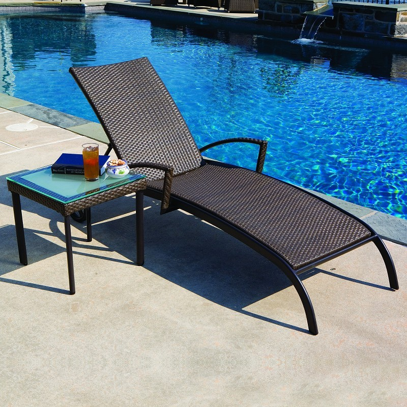 Alfresco Vento AllWeather Wicker Patio Chaise Lounge AL