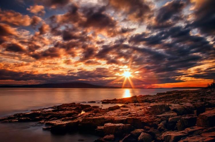 Sunset at Schoodic Peninsula, Maine