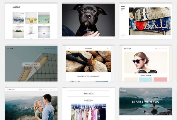 Just a few of the themes available on Squarespace.