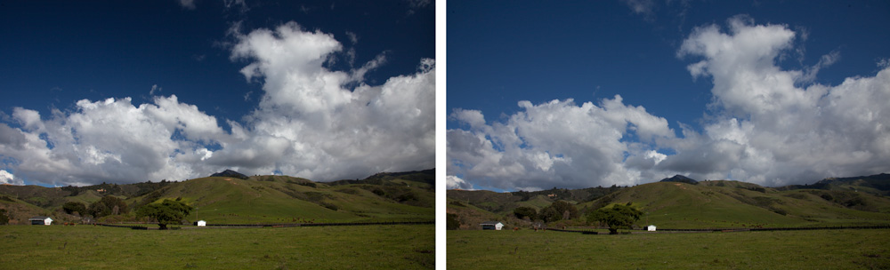 Using a Polarizing Filter - Pictures with and without a polarizer