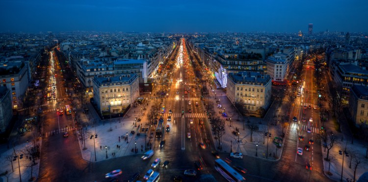 Low light performance camera example - Champs Elysees