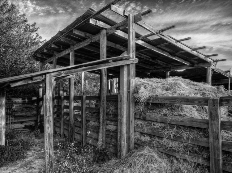 HDR example - Ft. Worth stockyards hay