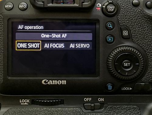 Autofocus modes in Canon cameras