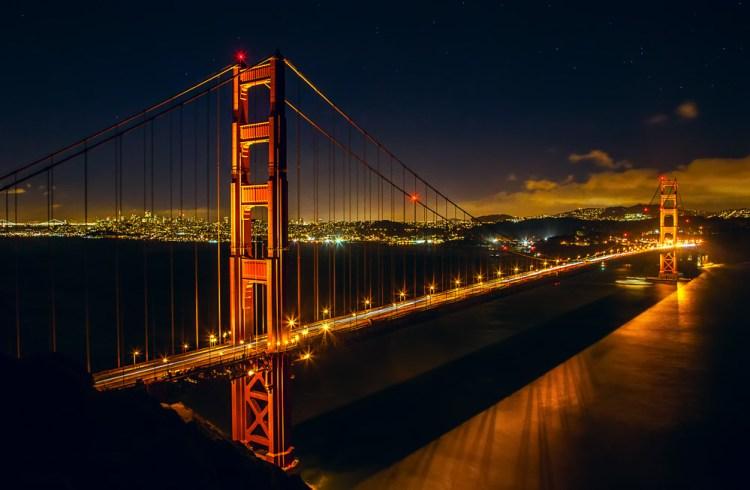 Shot of the Golden Gate Bridge from Battery Spencer Overlook in the Marin Headlands