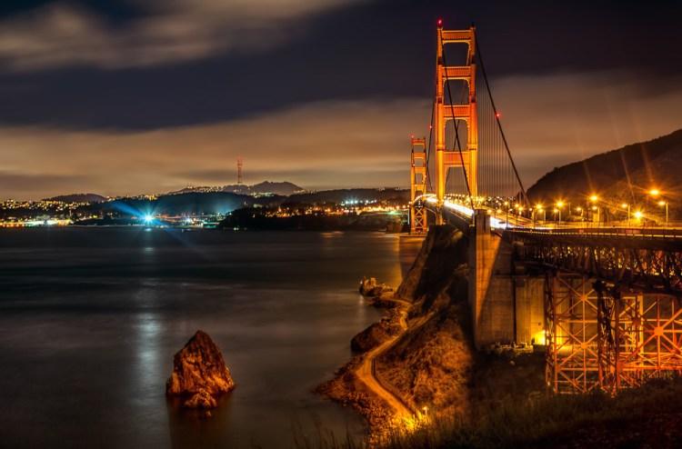 Shot of the Golden Gate Bridge from Vista Point