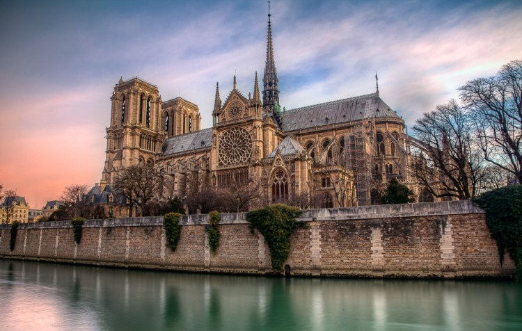 Photo of Notre Dame to print in Lightroom