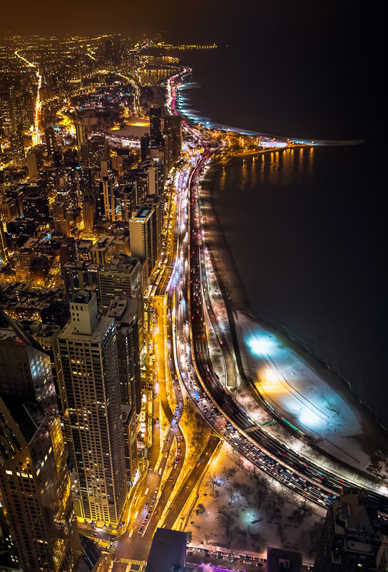 North view from Hancock Observatory or 360 Chicago