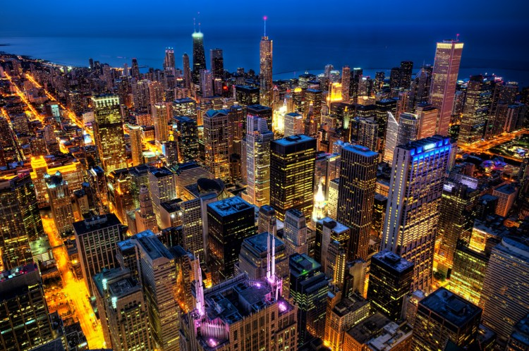 Color Enhancement Tips: Chicago from Willis Tower