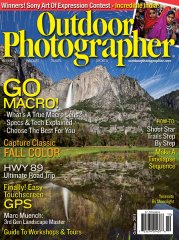 Outdoor Photographer Magazine cover October 2011