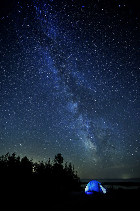 Franklin Island, Georgian Bay, Ontario, stars