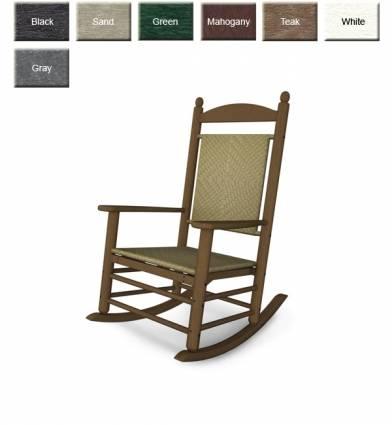 woven rocking chair writing desk and set polywood k147 jefferson rocker furniture
