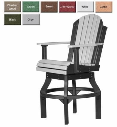 bar height outdoor chairs slipcovered dining poly furniture luxury pbarch high back adirondack swivel chair