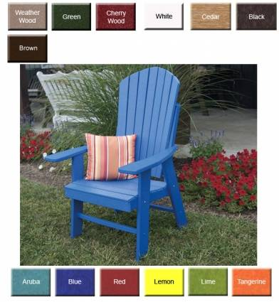 Outdoor Poly Furniture Amish PolyCraft 882 Upright