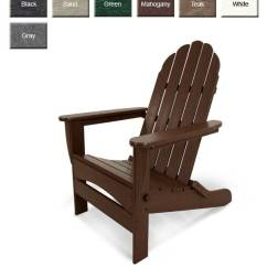 Poly Wood Adirondack Chairs Stool Chair With Armrest Polywood Ad7030 Oversized Curveback Furniture