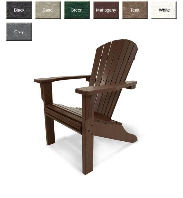 POLYWOOD SH22 Seashell Adirondack Chair POLYWOOD Furniture
