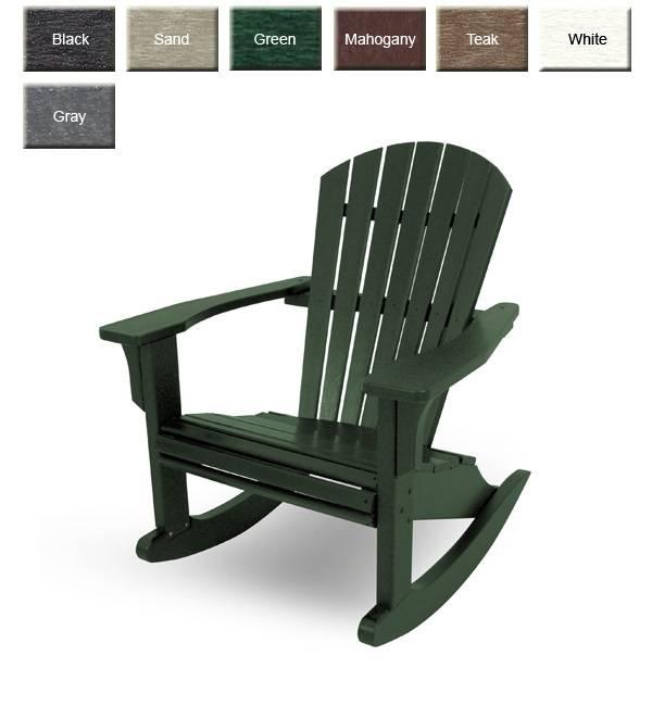 POLYWOOD SHR22 Seashell Rocking Chair POLYWOOD Furniture