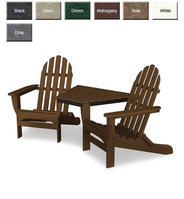 tete a chair outdoor papasan cheap polywood tt4040 adirondack furniture