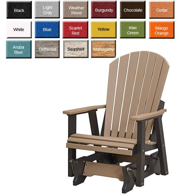 amish made rocking chair cushions double x back dining chairs outdoor poly furniture pctg2400 comfo glider gardens hover over image to zoom