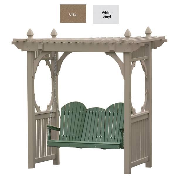 Outdoor Poly Furniture Luxury Poly CVSWS Vinyl Arbor
