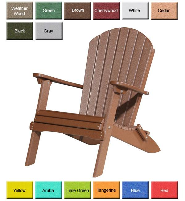 highwood adirondack chair posture ball seat outdoor poly furniture: luxury pfac folding | outdoorpolyfurniture.com
